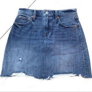 Levi's Distressed Denim Skirt 25